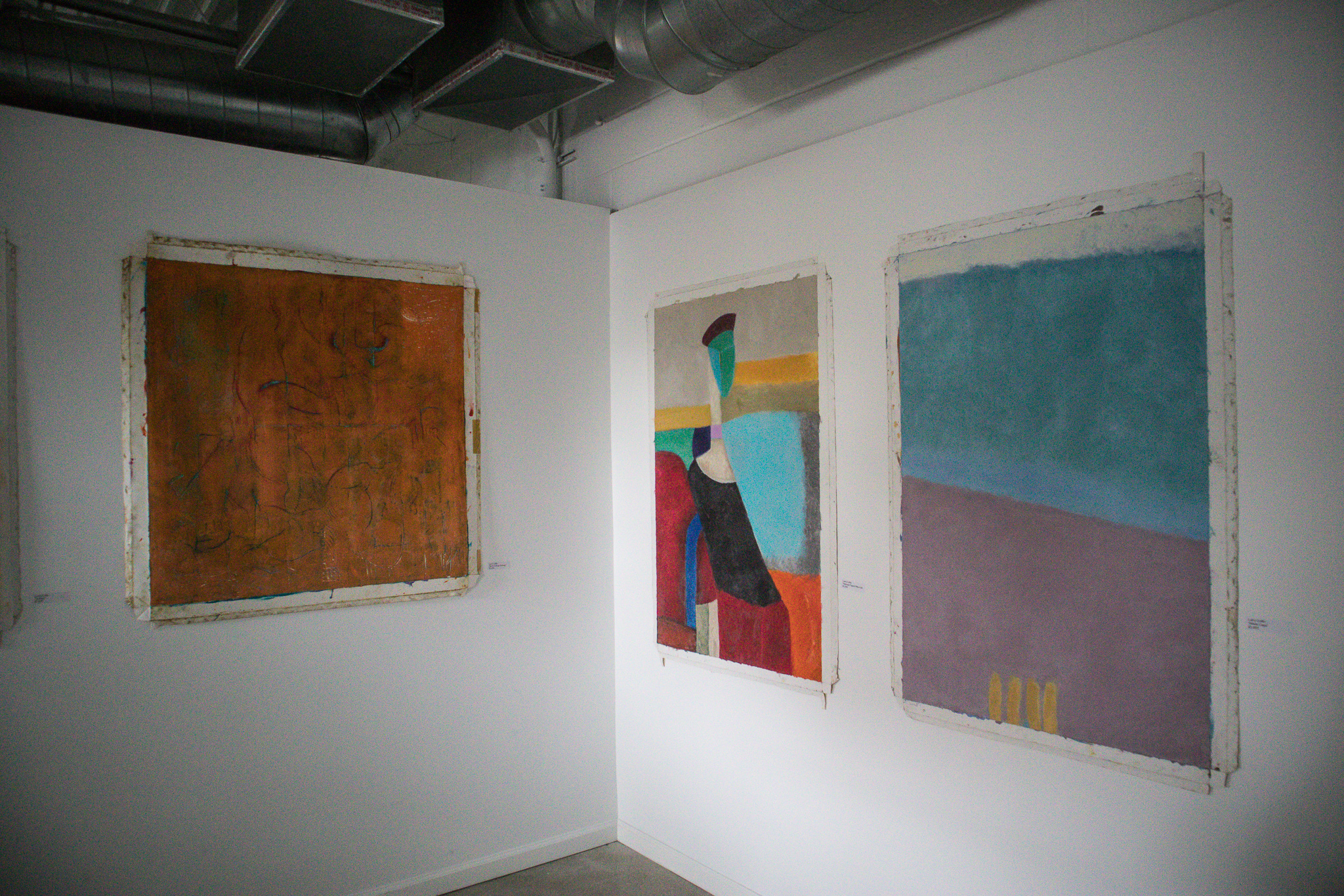 2nd From Right: Abstract figure: after A.M. / Info. on request for Far Right piece.